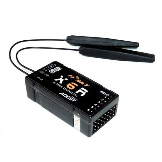 FrSky X6R 6/16Ch S.BUS ACCST Telemetry Receiver W/Smart Port (Taranis) - EU
