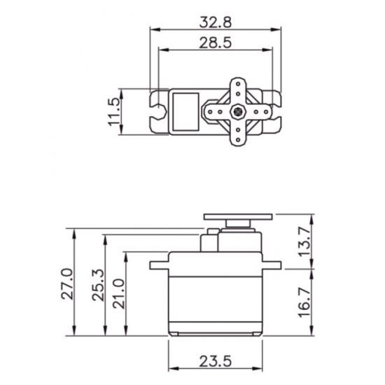 Graupner Servo (11g) DES 478 BB, MG 12 mm