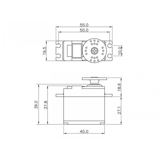 Graupner Servo (54g) DES 708 BB, MG