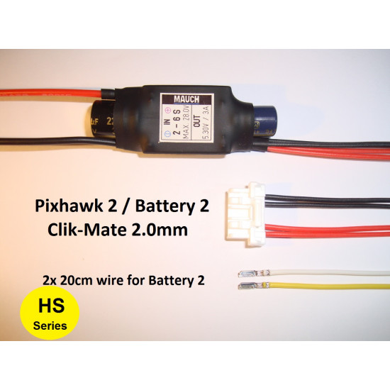 Mauch Standard Line 2-6S Backup BEC for Pixhawk 2