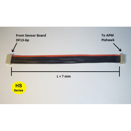 Mauch Standard Line Customized cable from Sensor Hub X2 to HS-xxx-xx Sensor Board