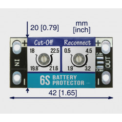 15A 6S - LIPO BATTERY PROTECTOR / LOW VOLTAGE CUT-OFF