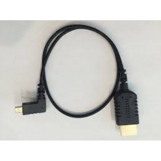 HyperThin Right Angle Micro to Micro HDMI Cable 50 cm