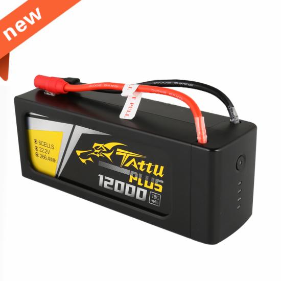 Tattu Plus 12000mAh 22.2V 15C 6S1P Lipo Battery Pack
