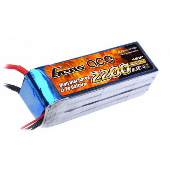 Gens Ace 2200 mAh 4S 14,8V 25C