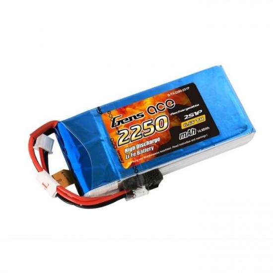 Gens Ace 2250mAh 6.6V 2S1P Li-Fe Battery for Futaba Remotes